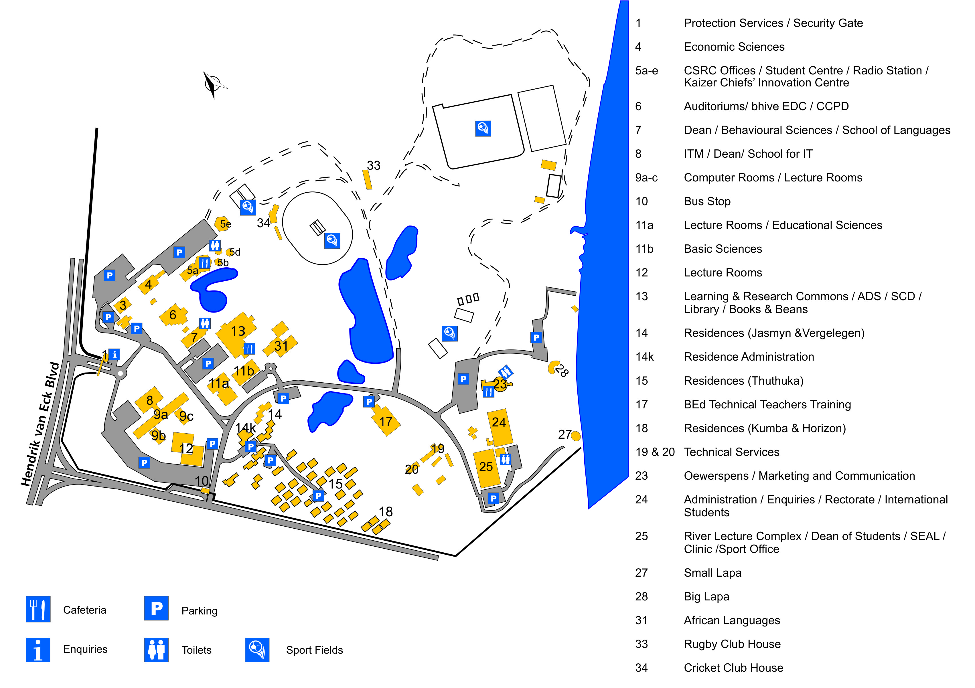 Northwest University Campus Map.Vaal Triangle Campus Nwu North West University